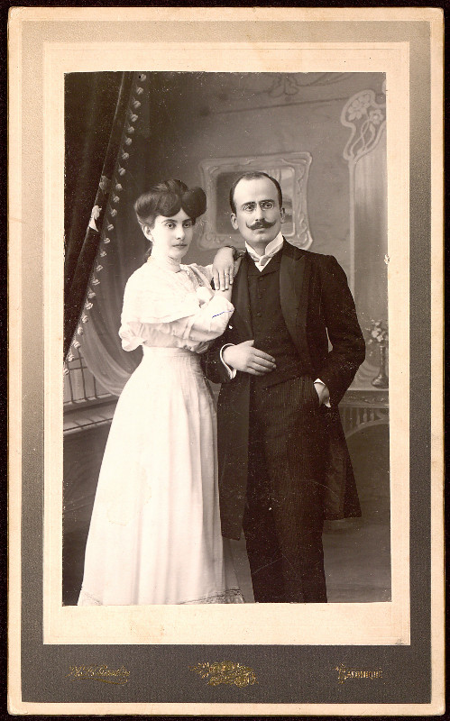 Pancho Dorev with his wife