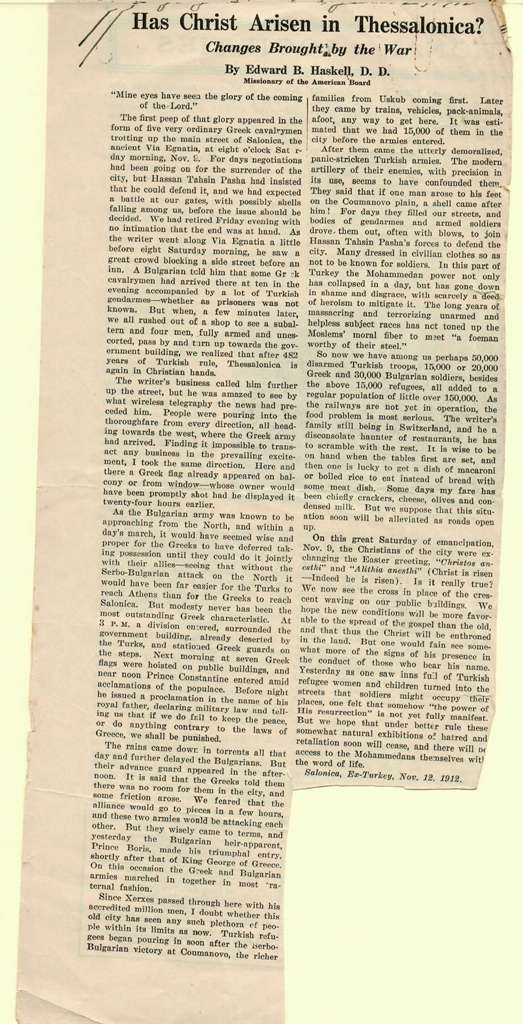 Haskell article 1912